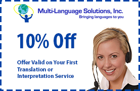 10% Off - Offer Valid on Your First Translation or Interpretation Service